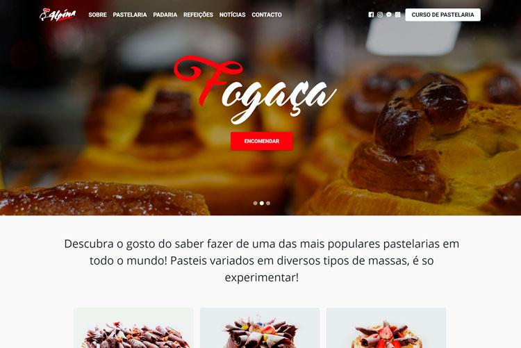 Website Alpina Pastelaria